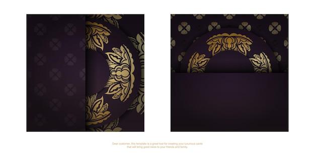 Burgunder-farbkarte mit abstrakter goldverzierung für ihre marke.