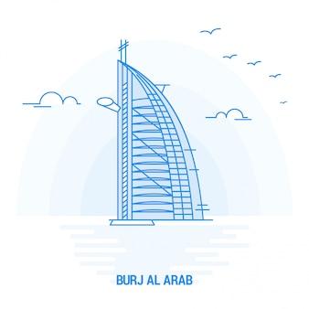 Burj al arab blaues wahrzeichen