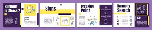 Burnout-broschürenvorlage