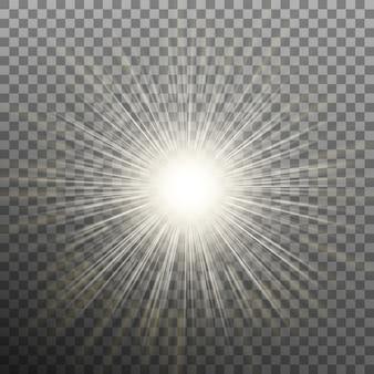 Burst-effekte auf transparentem hintergrund.