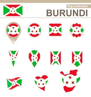 Burundi flag collection, 12 versionen