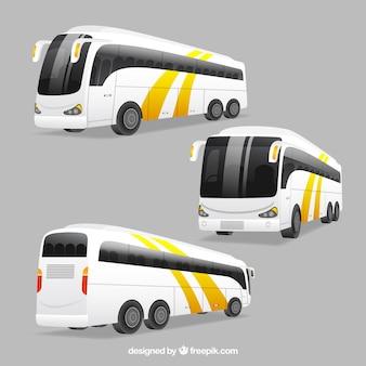 Bus-set mit verschiedenen perspektiven