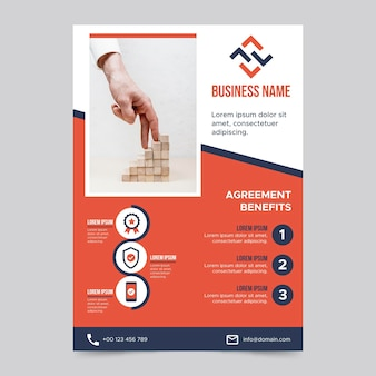 Business a5 flyer vorlage