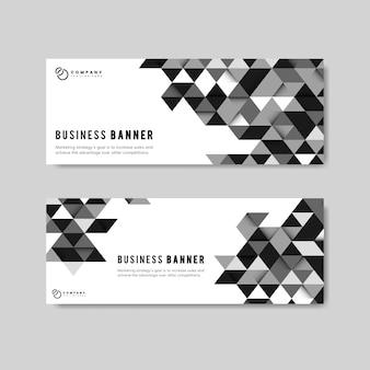 Business abstrakte banner gesetzt