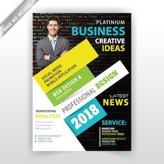 Business abstrakte kartenvorlage