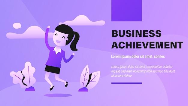 Business achievement banner