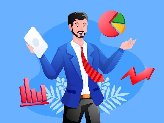 Business-analyse-berater geschäftskonzept