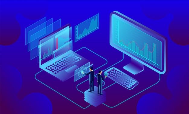 Business-analyse und kommunikation, zeitgemäßes marketing und software für die entwicklung.