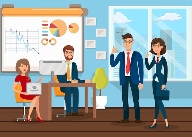 Business analysts teamarbeit