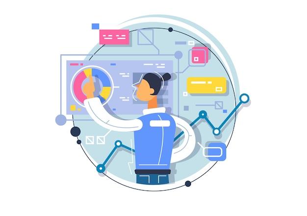 Business analytics, schulung von geschäftsprozessen. anwendungsentwicklung in augmented reality.