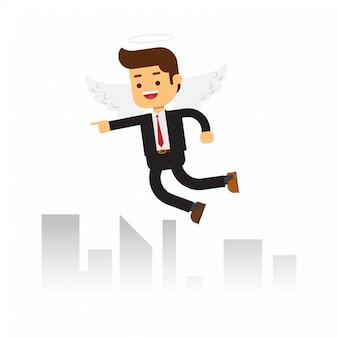Business angels fliegen am himmel
