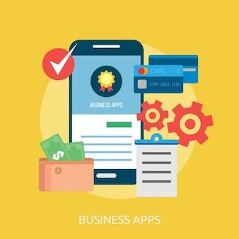 Business-anwendungen hintergrund-design