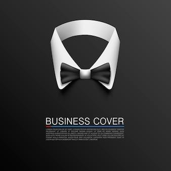 Business-anzug-cover-kunst-banner. vektor-illustration