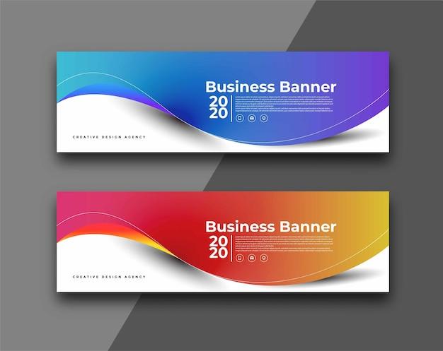 Business-banner-design-hintergrund.