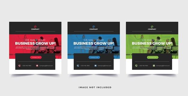 Business-banner für social media