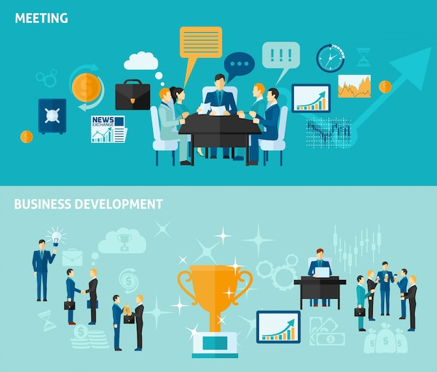 Business-banner-set