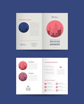 Business bi-fold-broschüre