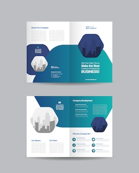 Business bifold brochure design