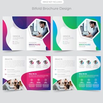 Business bifold broschüre design