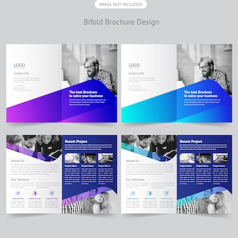 Business bifold broschüre design
