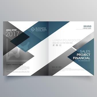 Business bifold broschüre flyer broschüre magazin cover seite design layout vorlage