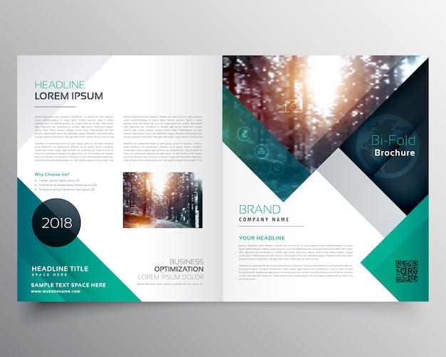 Business bifold broschüre oder magazin cover design vektor vorlage