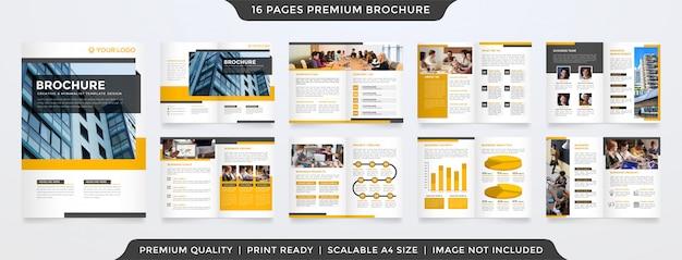 Business bifold broschüre