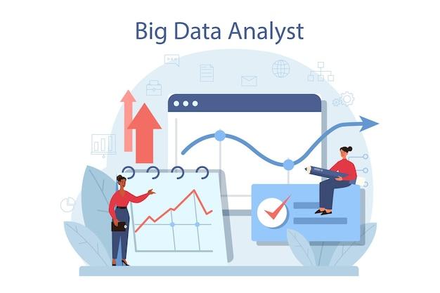Business big data analyse- und analysekonzept