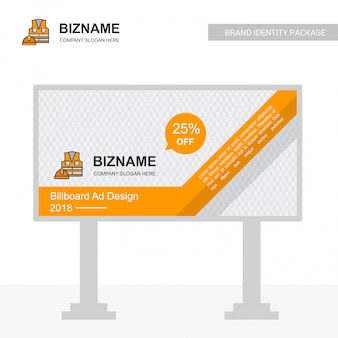 Business bill board design mit arbeitsjacke logo