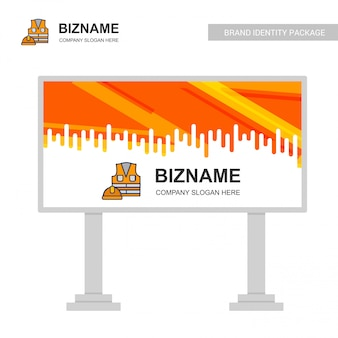 Business bill board design mit arbeitsjacke logo