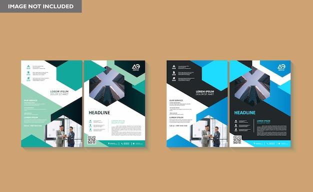Business book cover design-vorlage in a4 einfach an broschüre geschäftsbericht anzupassen