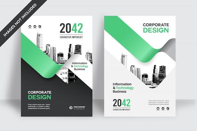 Business book cover design-vorlage