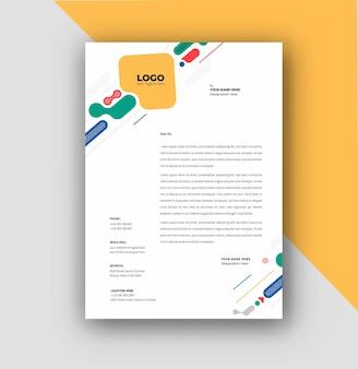 Business-briefkopf-vorlagen-design, vektor-illustration.