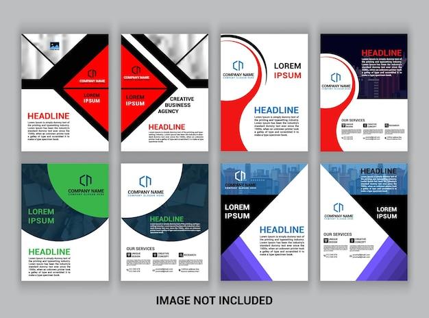Business-broschüre, a4-vorlage, flyer-design mega pack.