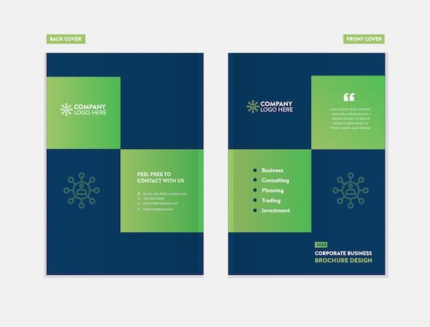 Business broschüre cover design-vorlage