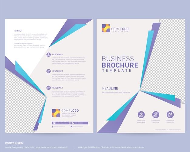 Business broschüre design vorlage doppelseitig