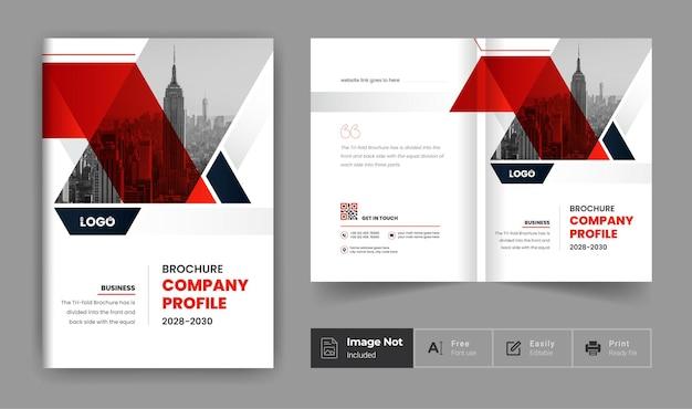 Business-broschüre-design-vorlage rote farbe elegantes thema firmenprofil-deckblatt-präsentation