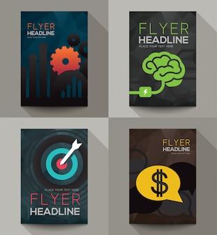 Business-broschüre flyer design-vorlage vektor in der größe a5