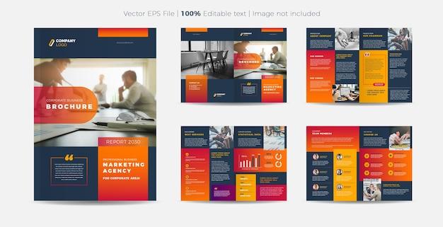 Business-broschüre oder firmenprofil-design