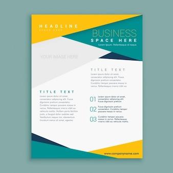 Business-broschüre seite presentaton vorlage