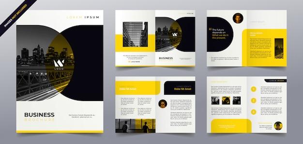 Business broschüre seiten vorlage