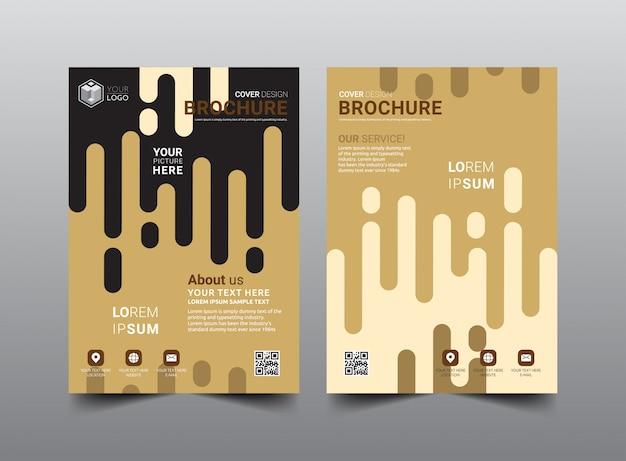 Business broschüre template-design.