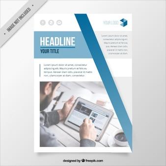 Business-broschüre vorlage im modernen stil