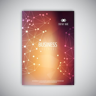 Business broschüre vorlage mit niedrigem poly design