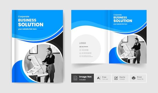 Business-broschüren-cover-design-vorlage kreative bifold-broschürenpräsentation