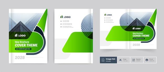 Business-broschüren-design-cover-thema-vorlage bunte moderne minimale bi-falt-unternehmensbroschüre
