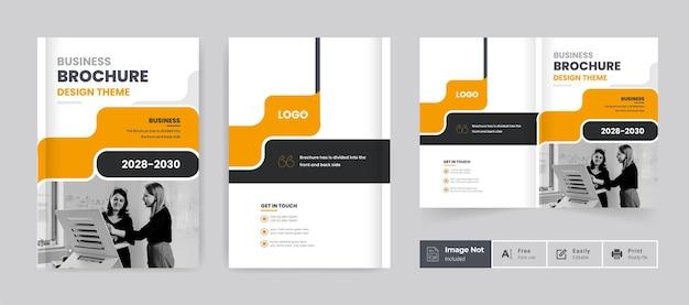 Business-broschüren-design-cover-vorlage corporate bifold broschüre präsentationsthema-layout