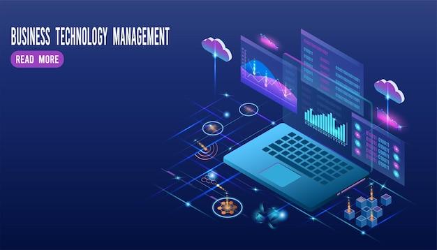 Business by cloud computing-technologie für die geschäftsanalyse