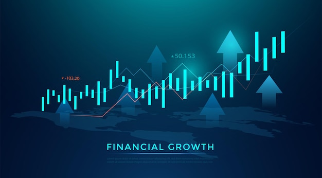 Business candle-stick-diagramm des börseninvestitionshandels