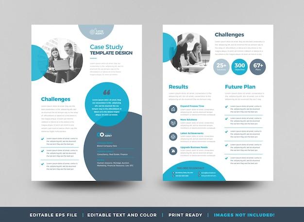 Business case study oder marketing sheet und flyer designa
